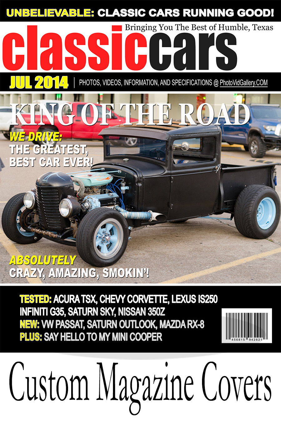 Classic Car Show Magazine Cover taken from Humble, Texas.