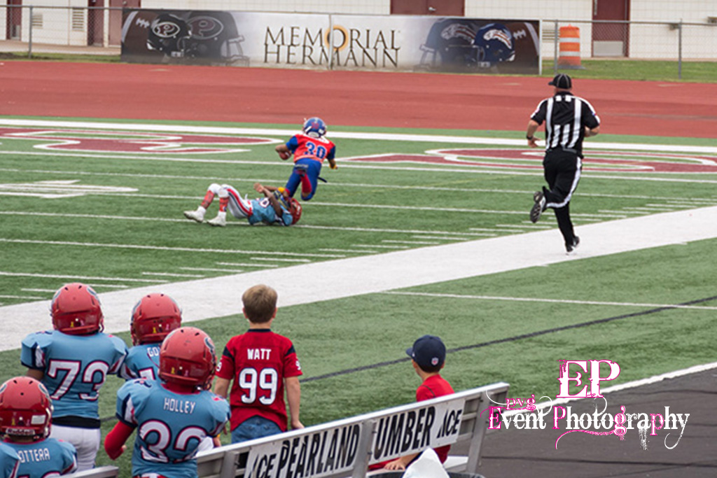 Clear Lake Space Raiders saving touchdown tackle at the 10 yard line.