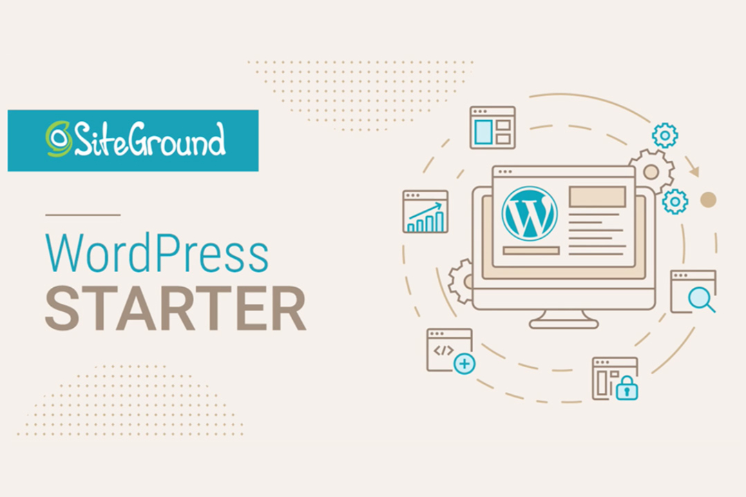 Siteground WordPress starter sites help you build your website faster, easier and still look professional.